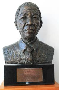 Statue of Nelson Mandela at the Nelson Mandela Gateway to Robben Island
